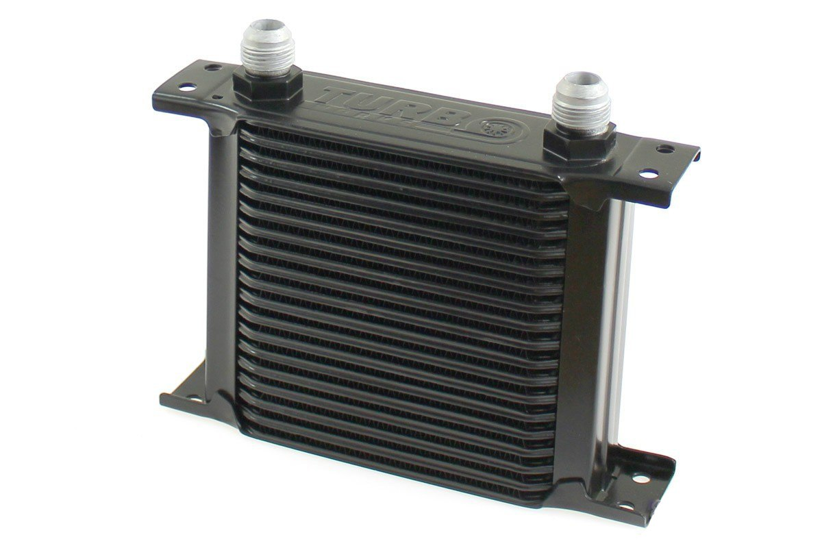 Chłodnica Oleju TurboWorks Slim Line 19-rzędowa 140x150x50 AN10 black - GRUBYGARAGE - Sklep Tuningowy